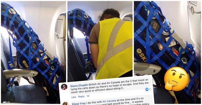 Air Canada cello security