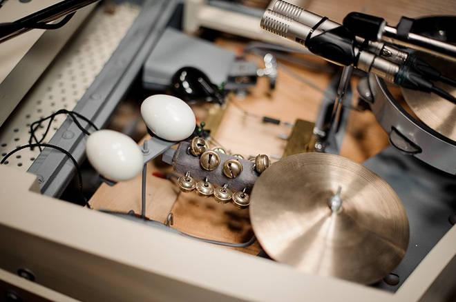 Tambourine and cymbals