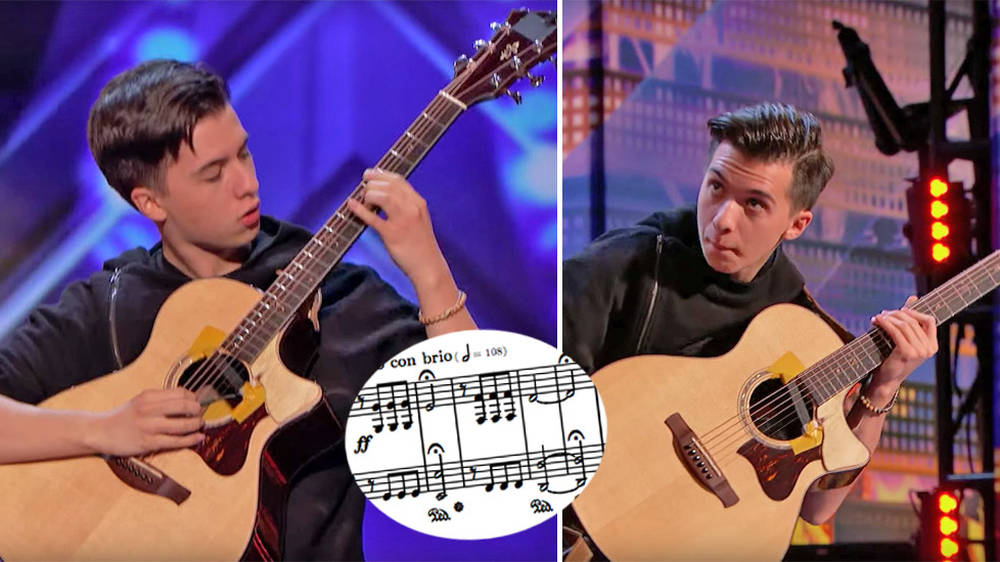AGT guitarist stuns judges with solo guitar arrangement of Beethoven's Fifth Symphony