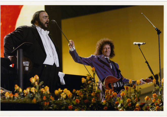 Pictured: Pavarotti and Brian May