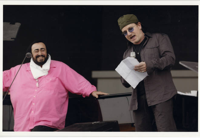 Pavarotti and U2 frontman Bono