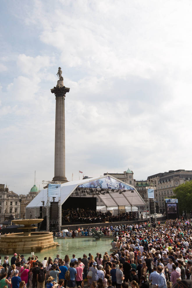 LSO performs in London's Trafalgar Square