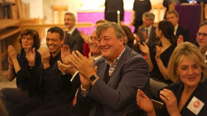 Stephen Fry, president of Ora Singers