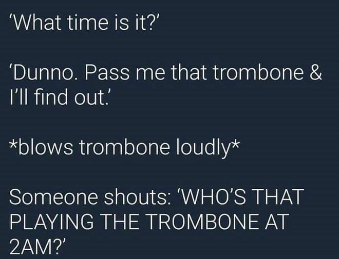 Trombone at 2am