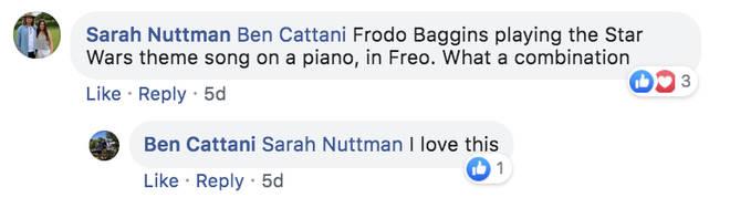 Frodo fans take to Facebook