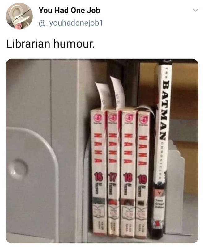 Librarian humour