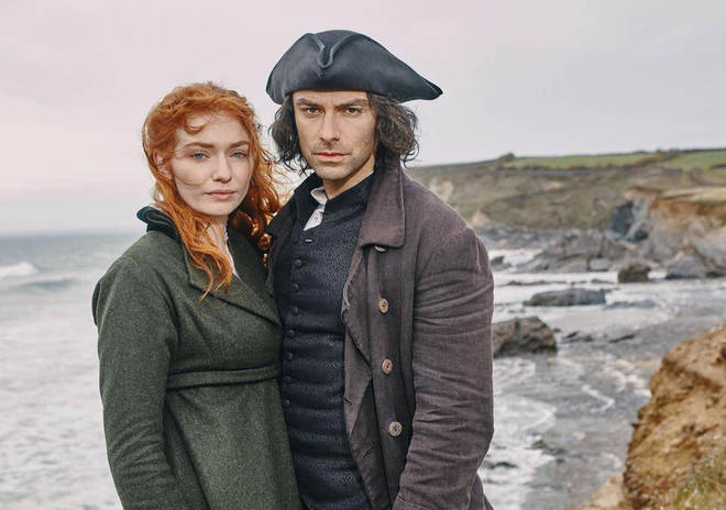 Eleanor Tomlinson and Aidan Turner star in Poldark