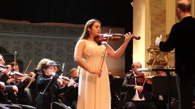 Violinist Katya Tsukanova
