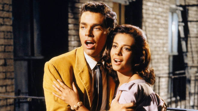 """Tony (Richard Bremer) and Maria (Natalie Wood) in a still from """"West Side Story,"""" the 1961 film."""