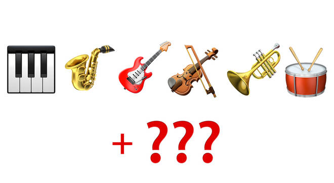Apple musical instrument emojis