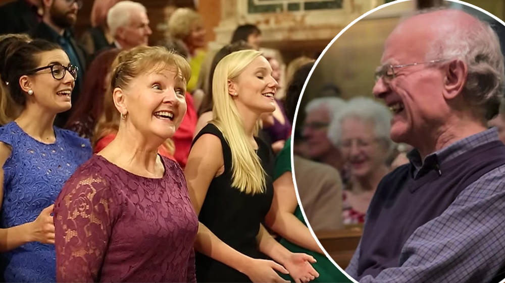 This choir trolled actual John Rutter by singing 'I Can't Believe it's not Rutter'