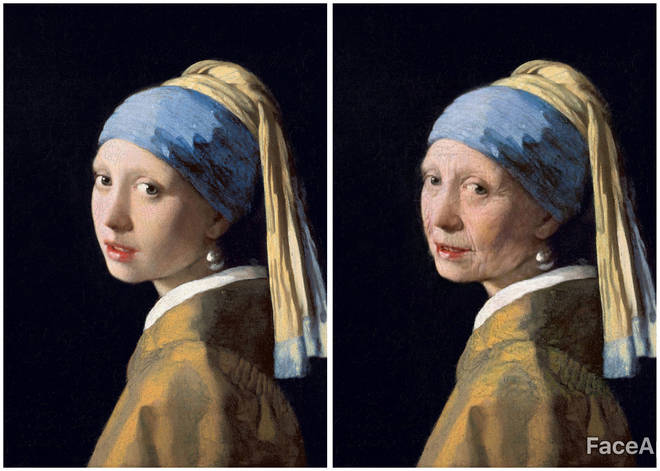 'Girl with a Pearl Earring' through FaceApp