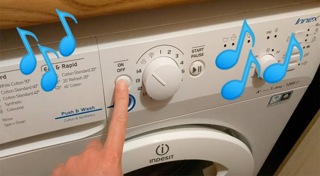 When your washing machine is a devout classical music fan...