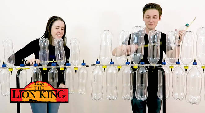 Disney medley on plastic bottles