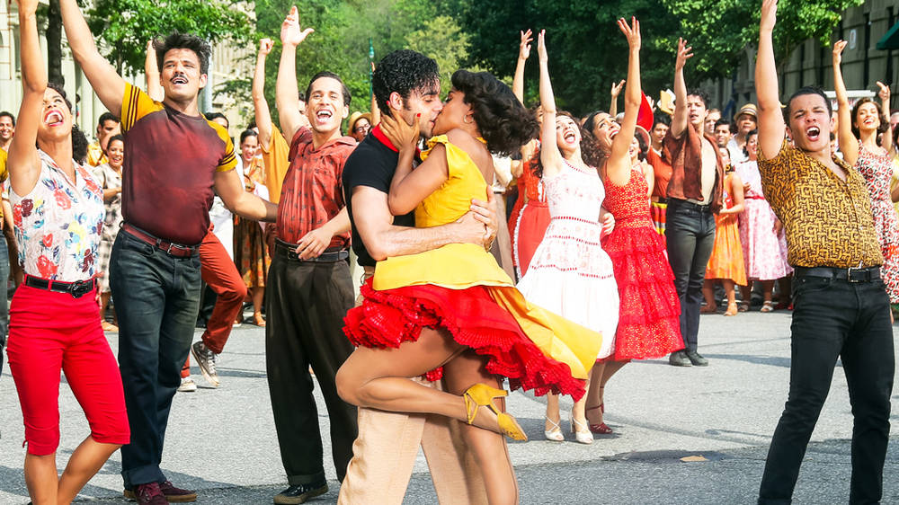 First look at West Side Story as Ariana DeBose and David Alvarez dance on set