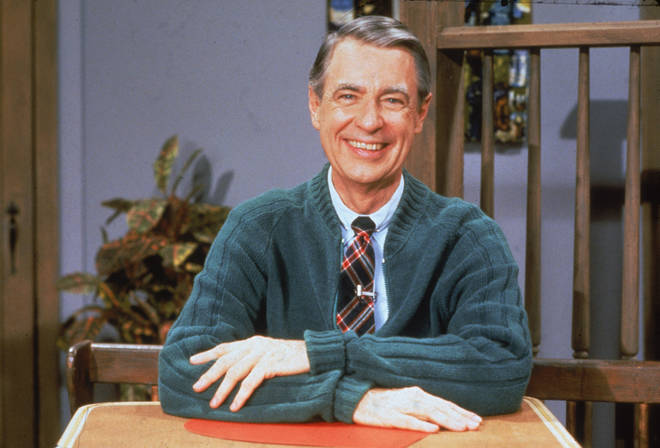 A portrait of Mister Rogers