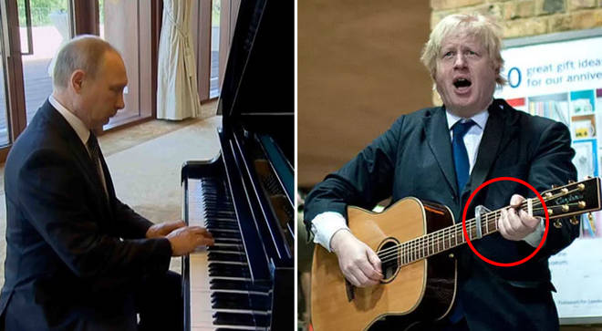 Politicians playing musical instruments