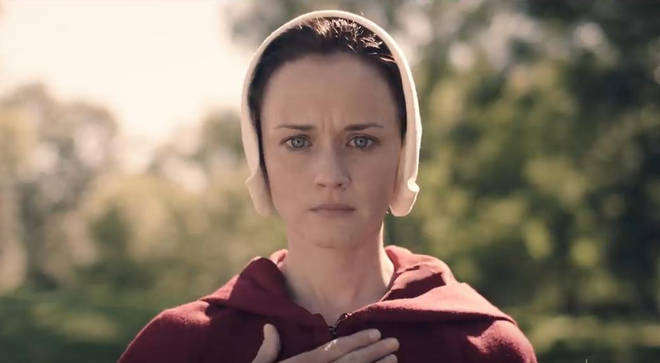 Alexis Bledel plays Ofglen in The Handmaid's Tale