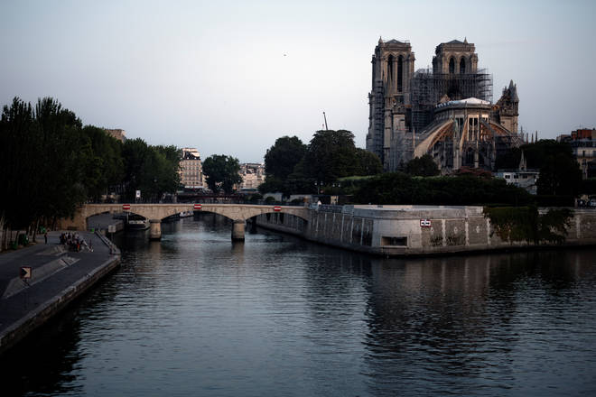 Notre-Dame Cathedral today, Paris July 2019