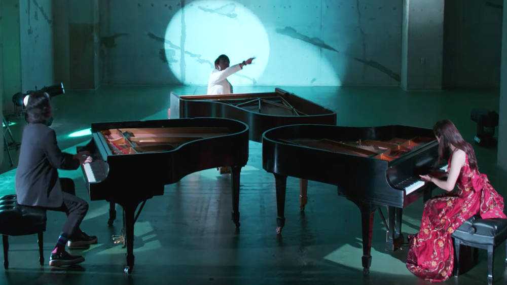 Lang Lang playing a piano medley with friends is an absolute dream