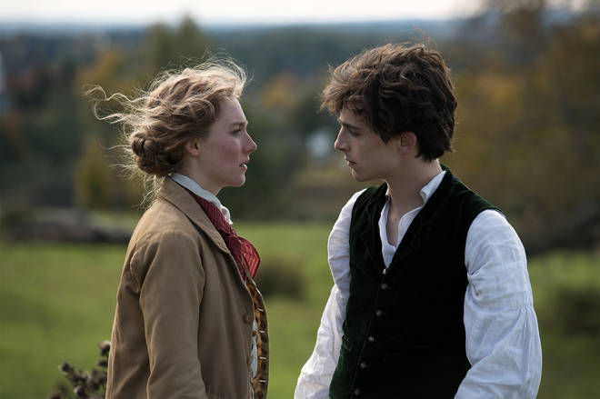 Saoirse Ronan and Timothée Chalamet star in Little Women