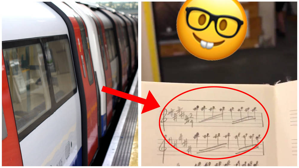 A music geek has been transcribing the sound of closing doors on the London Underground