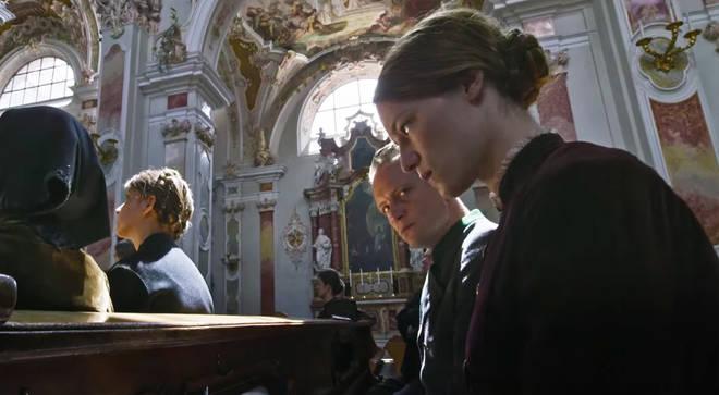 A church scene from A Hidden Life