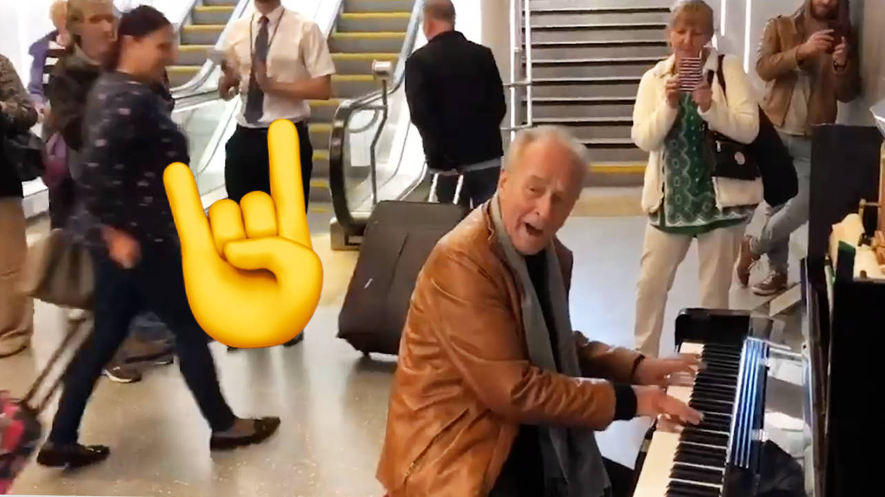 Pianist Stan Urban just rocked up to Dundee train station – and we stan his playing