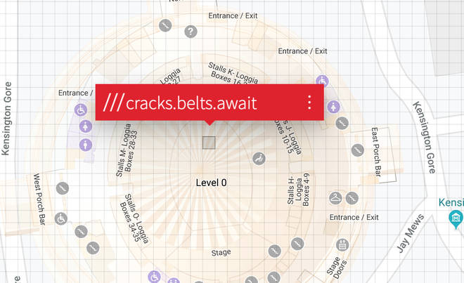 The Royal Albert Hall, London on What3Words