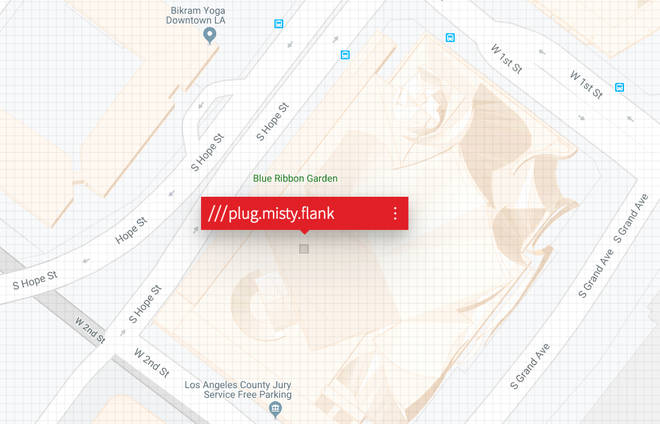 The Walt Disney Concert Hall on What3Words