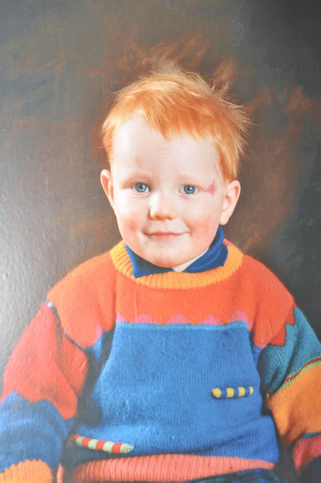 Ed Sheeran as a toddler