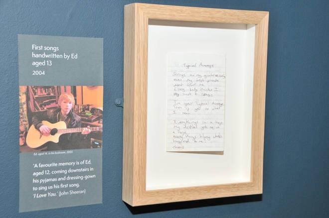 First songs handwritten by Ed Sheeran