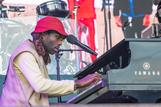 Blood Orange performs on the piano at Way Out West Festival 2019