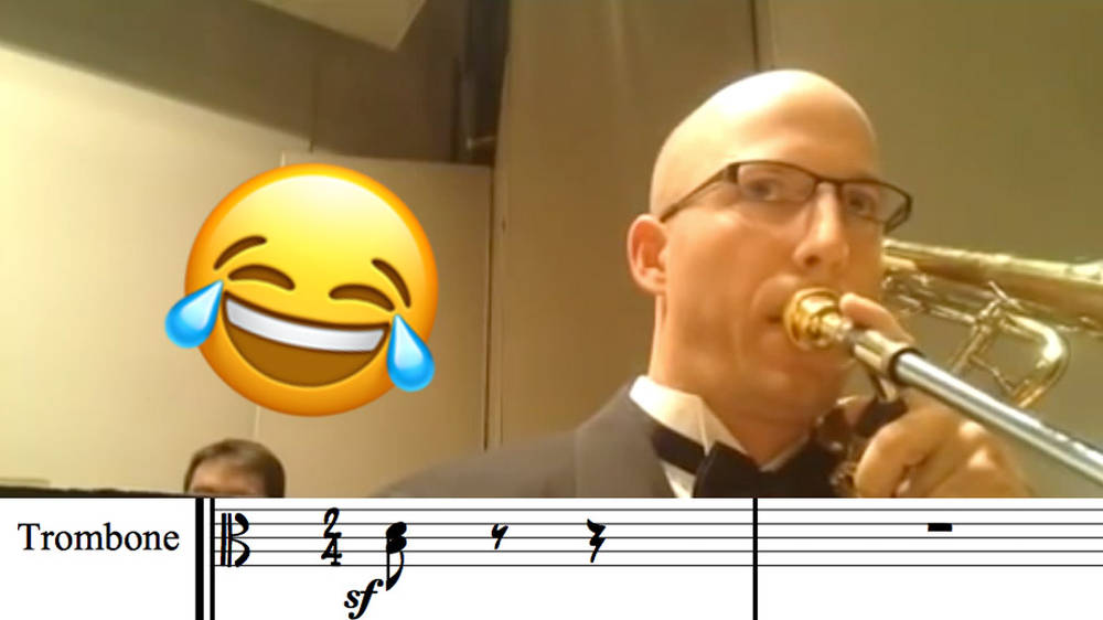 Flight of the Bumblebee, but it's played on BASS trombone - Classic FM