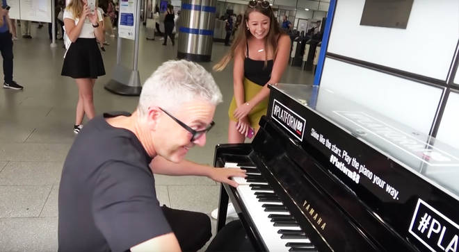 The video of this impromptu duet has received thousands of YouTube views.
