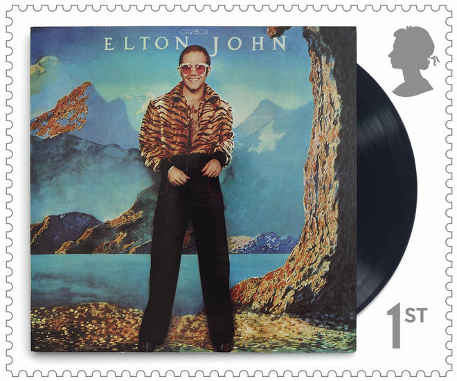 New Elton John stamp featuring the album cover for Caribou
