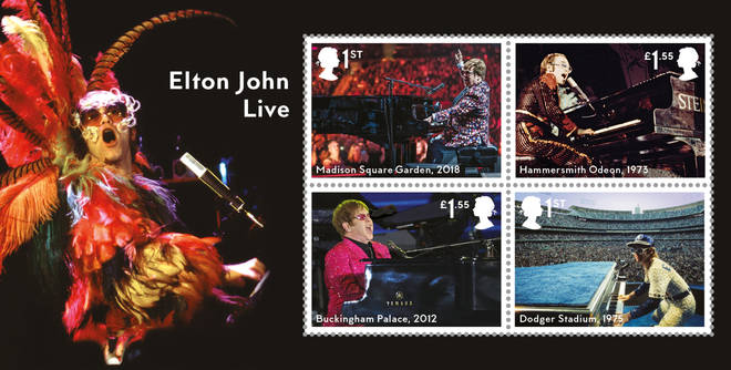 Four miniatures feature Elton John's live performances
