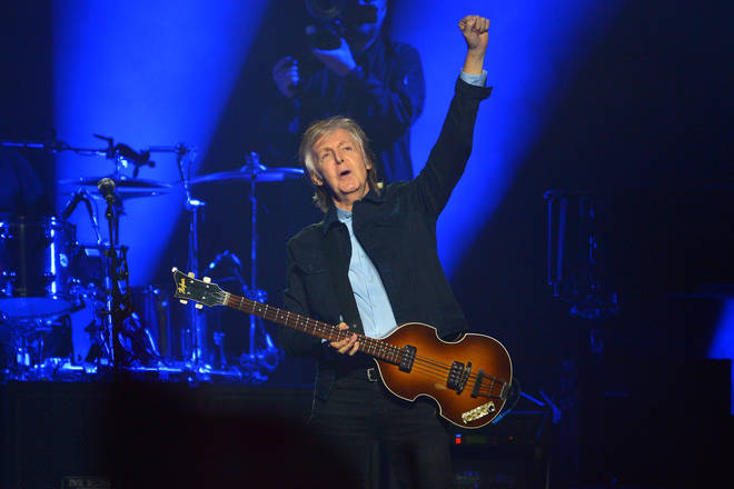 Sir Paul McCartney performs live on stage at the O2 Arena, 2018