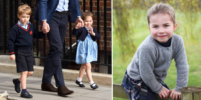 Pictured: Prince George and Princess Charlotte