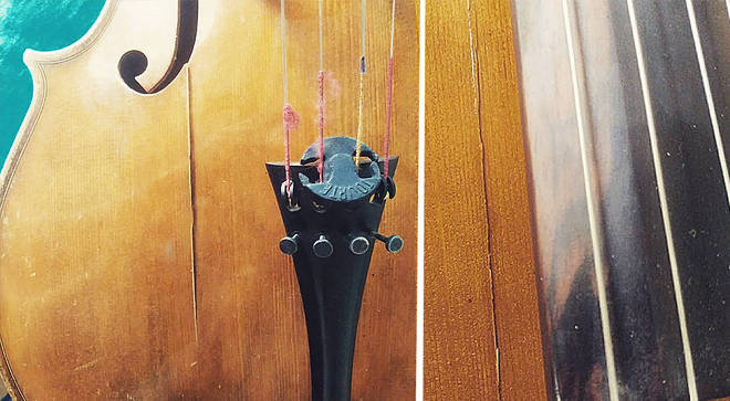 Despite being in a carbon case, Schinke's cello suffered three large fractures.