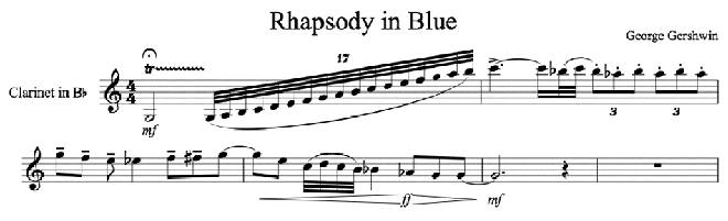 Rhapsody in Blue clarinet glissando
