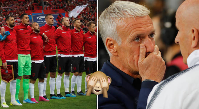 The Albanian team were left confused after hearing the wrong national anthem.