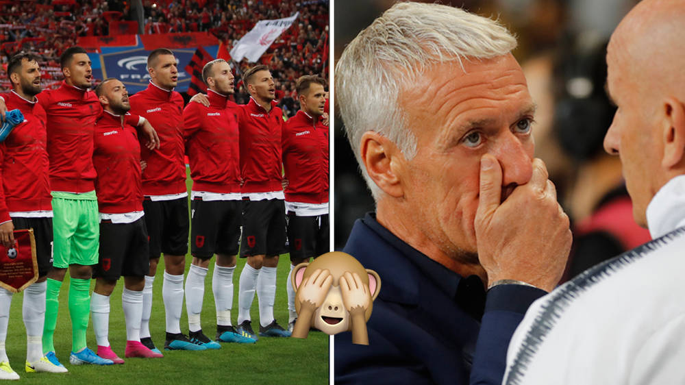 Albania national anthem mixed up with Andorra's during Euro 2020 qualifier against France