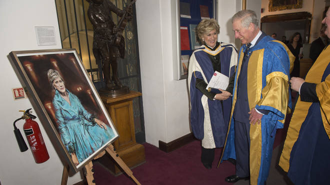 Dame Kiri Te Kanawa with HRH Prince of Wales at the Royal College of Music in 2015
