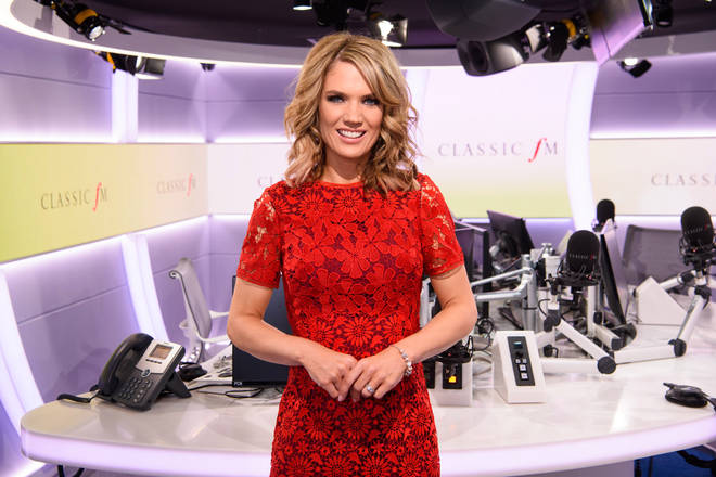Charlotte Hawkins in the Classic FM studio