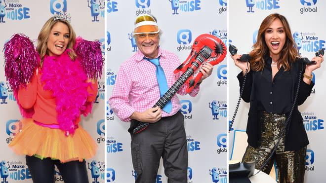 Classic FM presenters, Charlotte Hawkins, John Suchet and Myleene Klass dress loud for Make Some Noise Day 2018