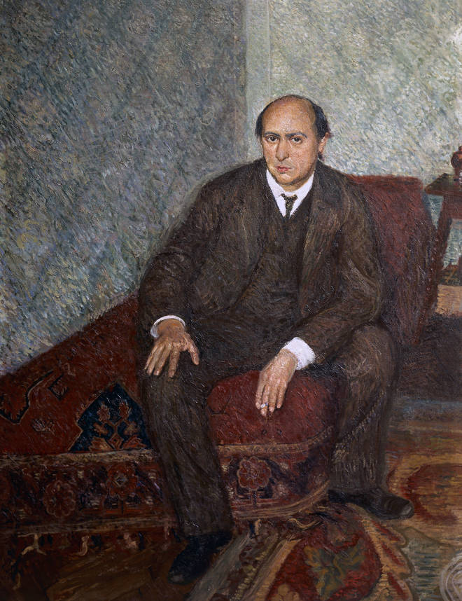 Portrait of Arnold Schoenberg (1905-6) by Richard Gerstl, oil on canvas, Historisches Museum der Stadt Wien, Vienna.