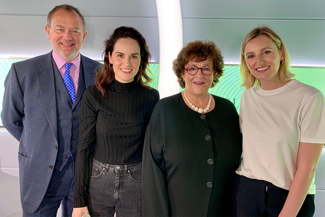 Downton Abbey cast members, Hugh Bonneville (Lord Grantham), Michelle Dockery (Lady Mary) and Laura Carmichael (Lady Edith) join Catherine Bott on 'Everything You Ever Wanted to Know...'