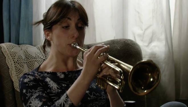 EastEnders' Sonia plays the trumpet