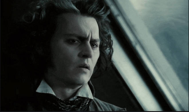 Johnny Depp plays Sweeney Todd